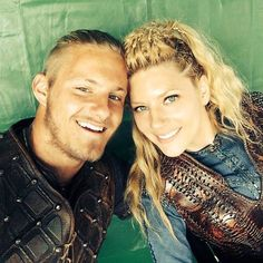 Lagertha and Bjorn-- check out  Bjorn's new haircut.. like Ragnar's.