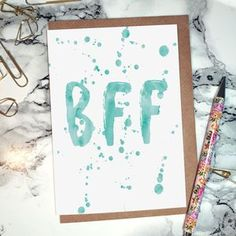 'BFF' Greeting Card. Make your friend smile with a thoughtful palentine's gift!