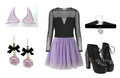 """""""pastel goth lilac"""" by verocorradine ❤ liked on Polyvore featuring Betsey Johnson and Topshop"""