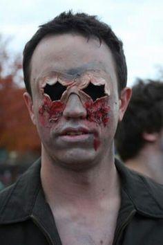 Bryan's creepy zombie makeup
