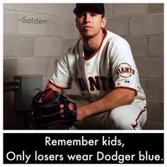Losers wear dodger blue