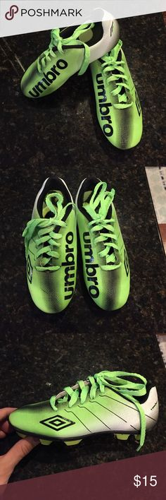 Boys Umbro soccer cleats size 13 Size 13 boys umbro soccer cleats. Yellow and black.  Great condition.  Only worn half a soccer season before a growth spurt  Umbro Shoes Sneakers