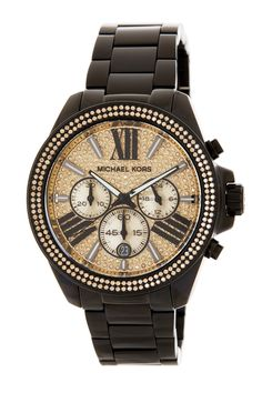NEW* MMK Women's Wren Chronograph Watch, Boyfriend Style, MK5961, Champagne Crystals, Black Stainless Steel. Get the lowest price on NEW* MMK Women's Wren Chronograph Watch, Boyfriend Style, MK5961, Champagne Crystals, Black Stainless Steel and other fabulous designer clothing and accessories! Shop Tradesy now
