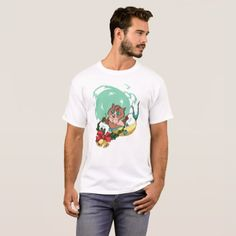 Christmas Mermaid Cat With Garland T-Shirt - holidays diy custom design cyo holiday family