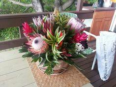 Tropical flower arrangement in hawaii