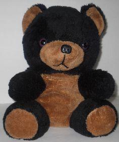 "Superior Toy Novelty Black Baby Bear Cub 13"" Sitting Vintage Styrofoam Beads #SuperiorToyandNoveltyCo"