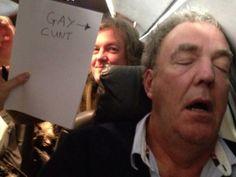 What happens when Jeremy Clarkson (Top Gear UK) falls asleep on a plane?