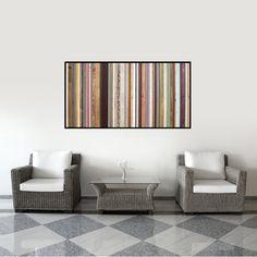"625.00 Wood Wall Art - ""Arabian Nights"" - Reclaimed Wood Art in Purples, Blues, Reds, Orange and Creams"
