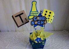 Items similar to 4 Game Night Centerpiece Spikes, Game party decorations on Etsy Game Night Parties, Casino Night Party, Casino Theme Parties, Game Party, Themed Parties, Fundraiser Themes, Fundraisers, Fundraising Events