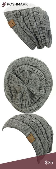 C.C. BEANIE BEST SELLING ITEM the C.C. BEANIE brand new this,is a light gray C.C Accessories Hats
