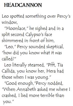 Yes. I love this. I still wish Percy hadn't told people but that just means he's over Calypso and completely loves Annabeth with everything he has.