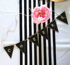 Black and White Stripe Table Runner - Wedding, Bridal Shower, Baby Shower, Halloween, Birthday Party