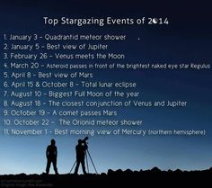 Some stargazing opportunities not to miss in 2014!