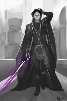Jedi Ben Solo takes after the lady Skywalkers in terms of fashion statements (grandmother a queen, mother a princess. NBD)