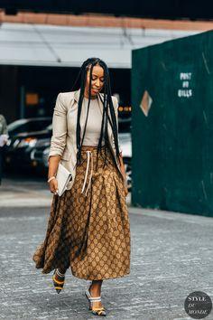 Day 7 Fashion Week Street Style Is Here, So We've Got Like a Million Outfit Ideas Now Urban Street Style, Street Style Chic, Style Urban, Street Style 2018, Street Style Women, Curvy Street Style, Urban Street Wear, Fashion Kids, Black Girl Fashion