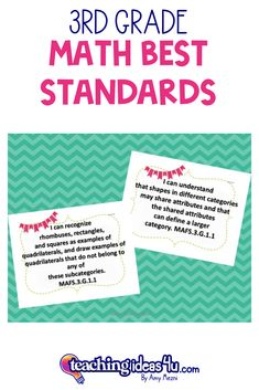 """This is a complete set of """"I Can"""" posters and checklists for the Math BEST Standards. The standards are rewritten in student-friendly """"I Can"""" statements. Use these in your classroom to """"frame"""" the lesson. Show the students what they will be learning during the lesson. Math Resources, Math Activities, Learning Targets, I Can Statements, 3rd Grade Math, Elementary Math, Word Problems, Task Cards, Math Lessons"""