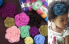 How to Crochet a Flower & Yarn GIVEAWAY!***reallly cute and easy. I used a k(6.5) for the base and a H(5.0) for the petals and i really liked it like that.