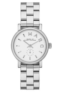 MARC BY MARC JACOBS 'Baker' Round Bracelet Watch  http://rstyle.me/n/d98ngnyg6