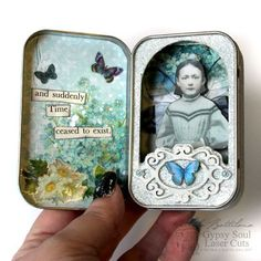 PaperArtsy: 2018 Topic Paper Dolls {Topic Introduction and Challenge} Altered Cigar Boxes, Altered Tins, Altered Art, Spring Fairy, Girls Dollhouse, Mint Tins, Tin Art, Tin Containers, Altoids Tins