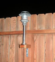 Attach Solar Lights to Your Fence