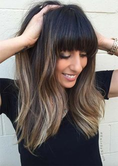 55 Dope Long Haircuts with Bangs: Tips for Wearing Fringe Hairstyles 55 Dope Lange Frisuren mit Pony Long Haircuts With Bangs, Long Fringe Hairstyles, Short Hair Updo, Long Hair With Bangs, Easy Hairstyles For Long Hair, Long Hair Cuts, Hairstyles Haircuts, Straight Hairstyles, Latest Hairstyles
