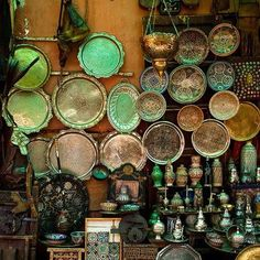 Just some of the wares available in Marrakesh souks. #marrakech #morocco #travel
