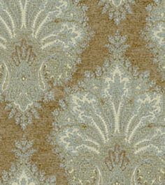 Home Decor Upholstery Fabrics-Waverly Arabesque-Robins Egg Fabric