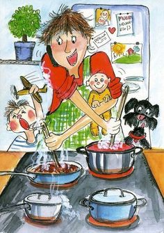 Tänään kotona (At home today) - Virpi Pekkala Mother Art, Mother And Child, Painting For Kids, Art For Kids, Children Painting, Art Pictures, Art Images, Valentines Watercolor, Cartoon Gifs
