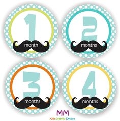 Items similar to Baby Stickers - Baby Month Stickers - Baby Boy Monthly Stickers - Baby Shower Gift - Mustache Baby Month Stickers on Etsy Summer Crafts, Holiday Crafts, Baby Milestone Chart, Kids Graphic Design, Crochet Mitts, Mustache Party, Moustache, Little Man Party, Baby Month Stickers