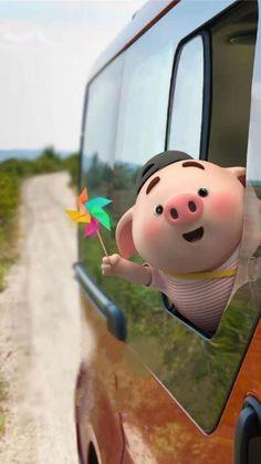 Pig 🍭 Pig Wallpaper, Disney Wallpaper, This Little Piggy, Little Pigs, Cute Piglets, Wonder Art, Pig Drawing, Pig Illustration, Funny Pigs
