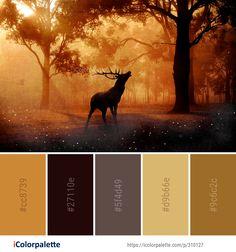 Color Palette Ideas from Wildlife Deer Fauna Image Color Schemes Colour Palettes, Green Colour Palette, Color Combos, Huawei Wallpapers, Forest Color, Find Color, Color Balance, Design Seeds, Potholders