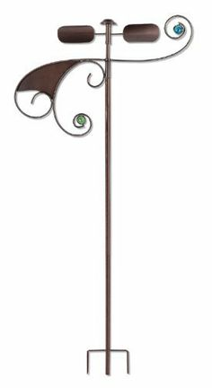 Sunset Vista Designs Hemi Spheres Wind Dancer Spinner, 55-Inch Tall by Sunset Vista. $30.31. 55-Inch long and 20-Inch wide. Spinner is made of metal and marble. Sunset Vista Designs Garden Essentials has everything you need to decorate indoors or out, also makes a great gift. Wind Dancer Spinner features a simple curved line pattern. Stands in your yard or garden to add an artistically modern touch; also makes a great gift. Add a modern touch of artistic simple lines to your y...