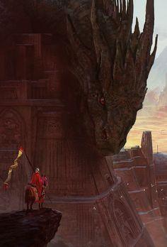 Dragon by Marc Simonetti (Fantasy Art Watch) Fantasy World, Dark Fantasy, Fantasy City, Medieval Fantasy, Dragon Pictures, Cool Pictures, Fantasy Beasts, Dragon Artwork, Art Watch