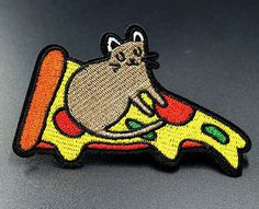 Pizza Mouse Cute Embroidered Iron On Sew On Patches Badges Transfers Patch Pin And Patches, Sew On Patches, Iron On Patches, Sewing Labels, Clothing Patches, Applique, Badges, Cute
