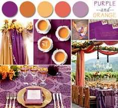 2014 purple and orange fall wedding color ideas #elegantweddinginvites