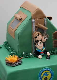 Tent and Campfire closeup - design based on the amazing work of Julie (Creative Cakes by Julie) Thanks so much for letting me use it!