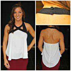 buy here: http://amaranthcollection.com/collections/tops/products/flowy-cute-top  #halter top #blackandwhite #tanktop #summertop