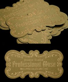 die-cut business card via thedesigninspirat... I think people would have a hard time tossing these in the trash.