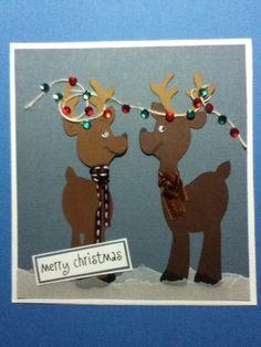 A Christmas card made with my cricut.