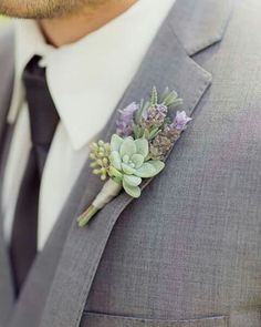 Another great succulent wedding boutonniere from Mon Cheri Bridals Floral Wedding, Fall Wedding, Our Wedding, Wedding Flowers, Dream Wedding, Forest Wedding, Succulant Wedding, Lavender Grey Wedding, Purple Wedding