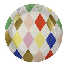 TOOT SWEET HARLEQUIN PATTERN PLATES-SMALL