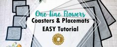 The best Placemats DIY tutorial. Make your own placemats and coasters with the fabric of your choosing. Sewing Spaces, Sewing Rooms, Sewing Patterns Free, Free Sewing, Free Pattern, Sewing Lessons, Sewing Tips, Sewing Tutorials, Serger Thread