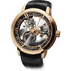 Hysek IO 49mm Skeleton Tourbillon Floating Black Diamonds Rose Gold
