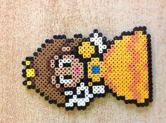 Daisy perler bead by Amanda Collison