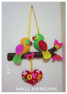 Creative Academy Bangalore: Love Birds Wall Hangings