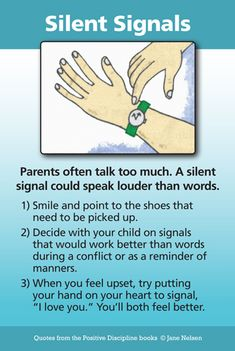 Do you sometimes feel like you talk too much? Silent Signals can be a great Positive Discipline tool for kindly and firmly communicating. It is important to make an agreement in advance and have children help you come up with the silent signals. Our blog this week includes several real-life examples of silent signals that have worked for parents and teachers.