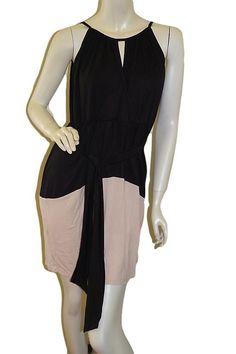 Black Nursing Breastfeeding Dress with Tie