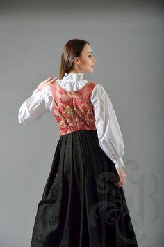 Damaskkjol - se søm rygg Ethnic Fashion, Damask, Tulle, Victorian, Culture, Costumes, Skirts, Dresses, Hipster Stuff