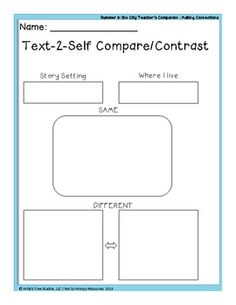 16 pages of graphic organizers that can be used with ANY book in the *preview! (eBook)Summer in the City Written by Kathleen Wainwright  (eBook)Summer in the City Written by Kathleen Wainwright