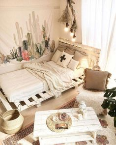 52 Beautiful Boho Style Room Decoration 19 - Home Sweet Small Room Design, Modern Bedroom Design, Bedroom Designs, Contemporary Bedroom, Romantic Bedroom Decor, Bedroom Ideas, Bohemian Style Bedrooms, Boho Style, Hippie Bedrooms